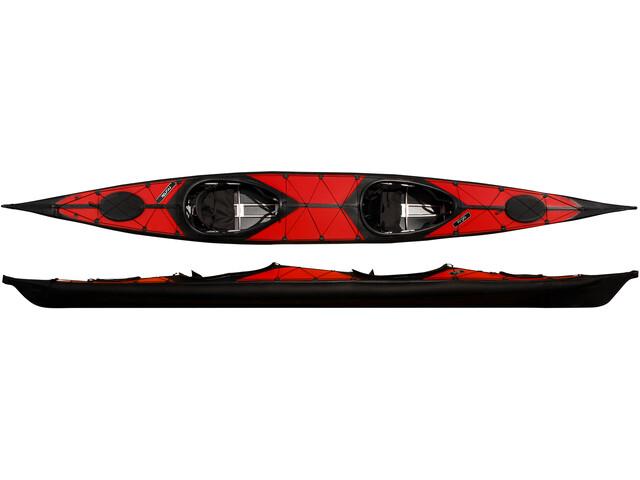 nortik argo 2 Kayak, negro/rojo